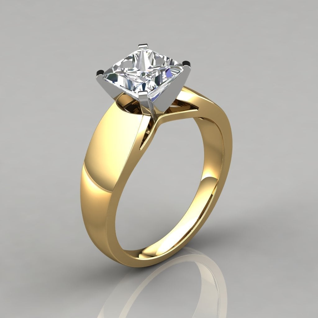 Shown: Women Wedding Rings Wide Band Solitaire At Reisefeber.org