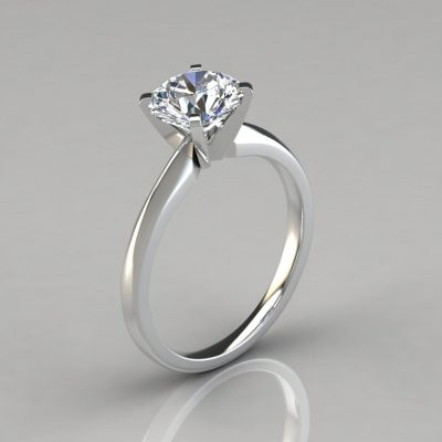 Classic Solitaire Round Cut Engagement Ring