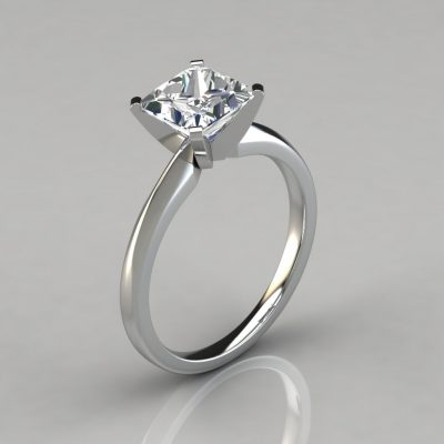 Classic Princess Cut Solitaire Engagement Ring