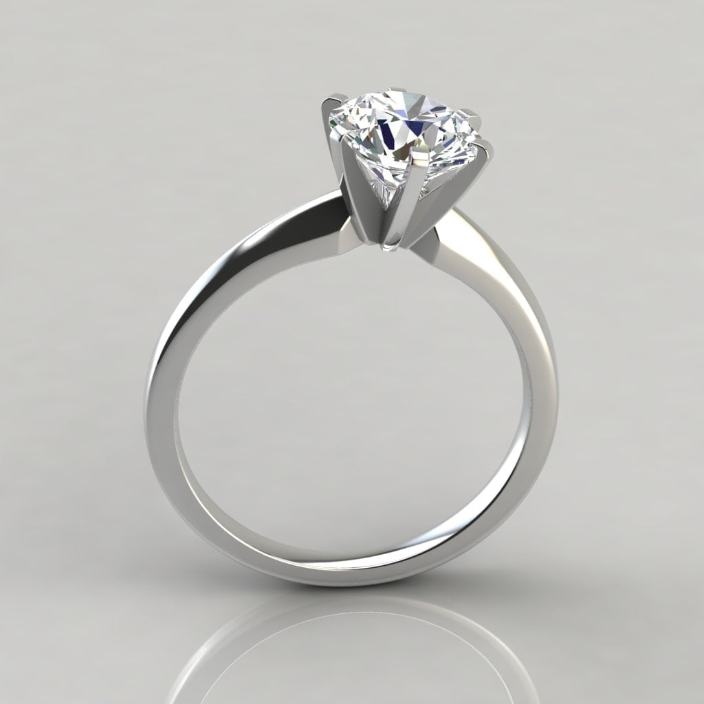 Classic Six Prong Solitaire Engagement Ring Forever