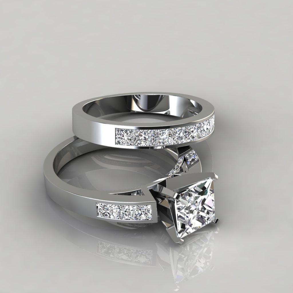 Forever One Moissanite Wedding Rings