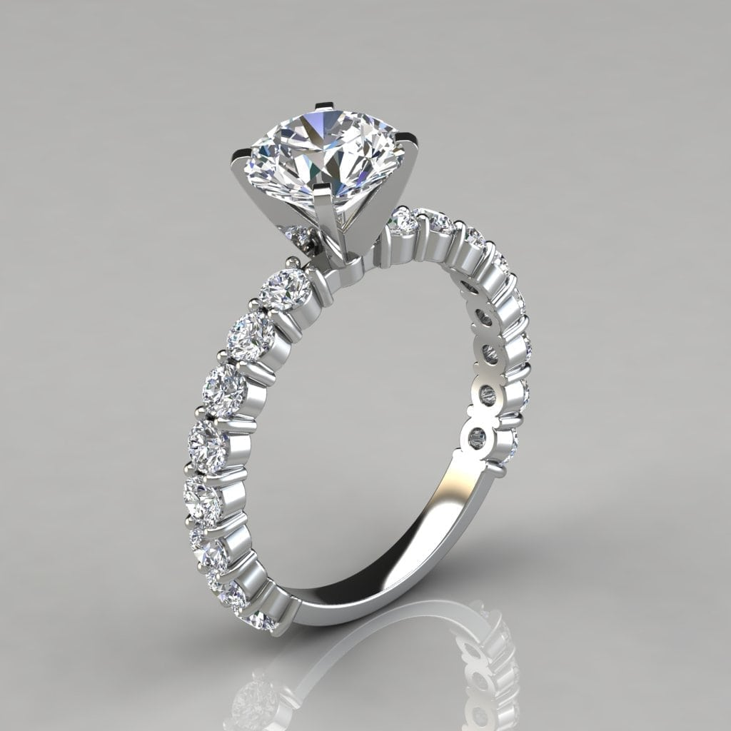 Engagement Rings Round Cut: Round Cut Common Prong Engagement Ring