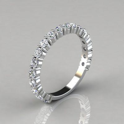 1.08Ct Round Cut Wedding Band Ring