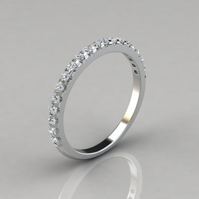 0.47Ct Ladies Round Cut Wedding Band Ring