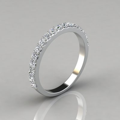 0.49Ct Ladies Round Cut Wedding Band Ring