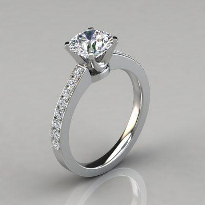 Novo Design Round Cut Engagement Ring
