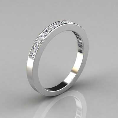 0.82Ct Channel Set Wedding Band Ring