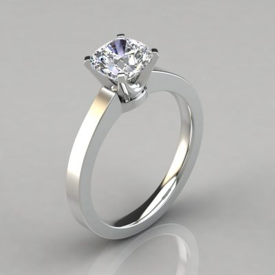 Novo Cushion Cut Solitaire Engagement Ring