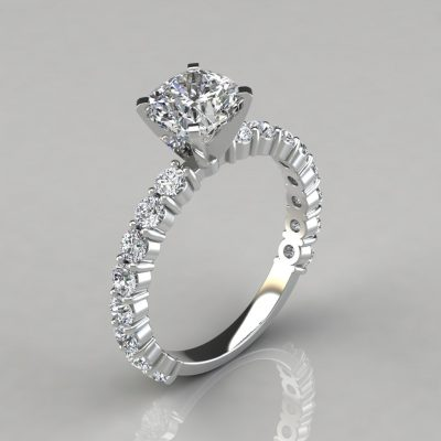 Cushion Cut Common Prong Engagement Ring