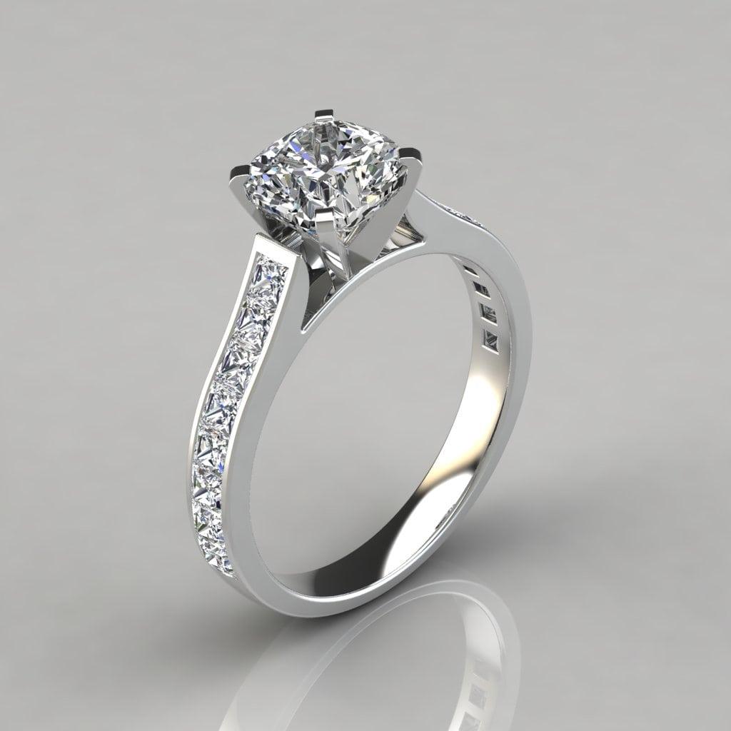 Shown: Cushion Cut Moissanite Wedding Ring Sets At Reisefeber.org