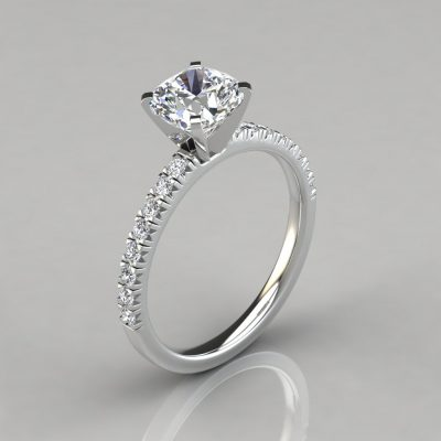 French Cut Cushion Cut Engagement Ring