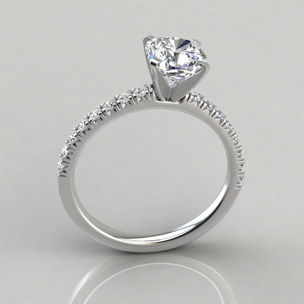 French Cut Cushion Cut Engagement Ring Forever Moissanite