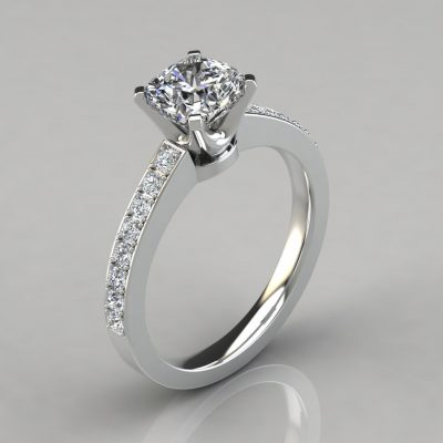 Novo Design Cushion Cut Engagement Ring