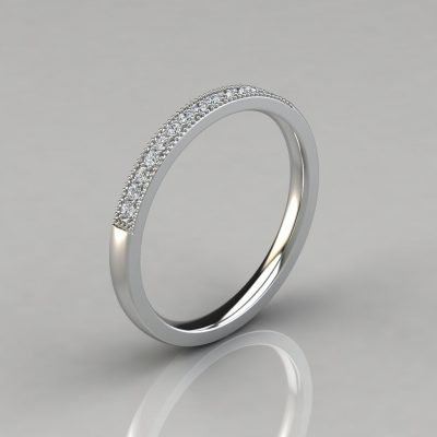 0.20Ct Round Cut Wedding Band Ring
