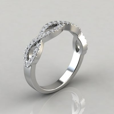 0.35Ct Infinity Design Wedding Band Ring