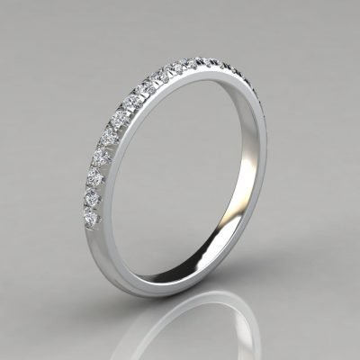 0.25Ct Round Cut Wedding Band Ring