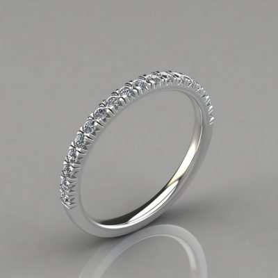 0.26Ct French Pave Cut Wedding Band Ring