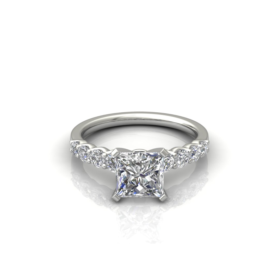 ITEM NUMBER 276 Graduated Princess Cut Engagement Ring
