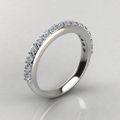 0.87Ct Moissanite Shared Prong Wedding Band Ring