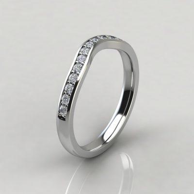 Cross Prong Moissanite Matching Wedding Band Ring